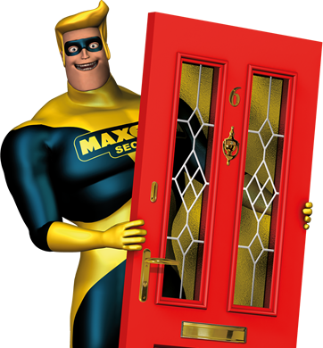 Man with door
